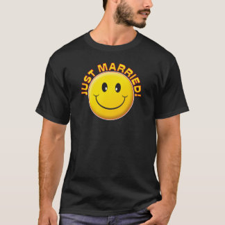Just Married Smile T-Shirt