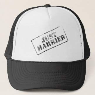 Just Married Stamp Trucker Hat