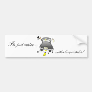 Just Married (the easy way) Bumper Sticker