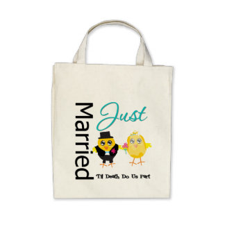 Just Married 'Til Death Do Us Part Bags