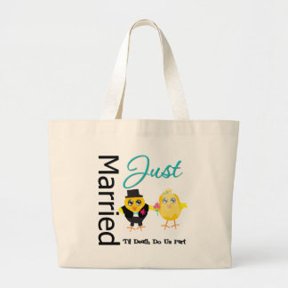 Just Married 'Til Death Do Us Part Tote Bags