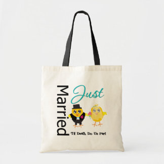 Just Married Til Death Do Us Part Tote Bags