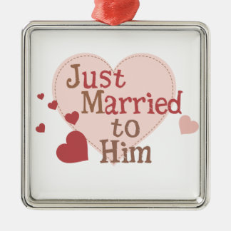 Just Married to Him Ornament