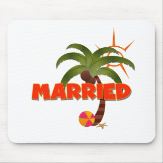 Just MARRIED Tropical  Mouse Pad