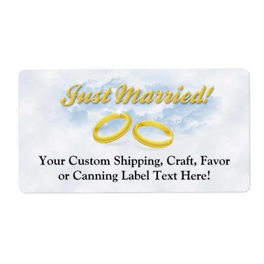 Just Married, Two Gold Bands/Clouds