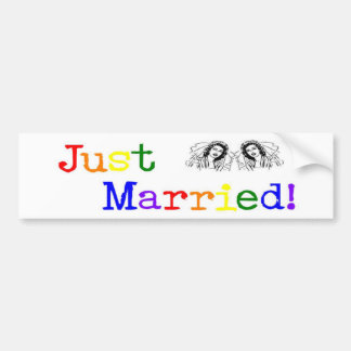 Just Married (two women) Bumper Sticker