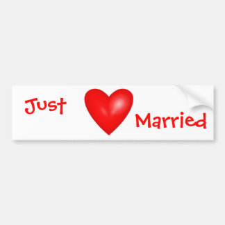 Just Married Valentine Bumper Sticker