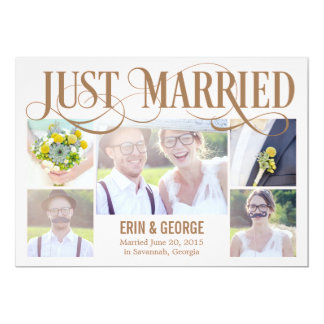 Just Married Wedding Announcement - Pink