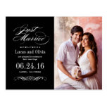 Just Married Wedding Announcements | Black & White Postcard