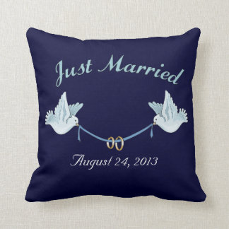 Just Married Wedding Doves Cushions