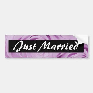 Just married wedding stickers bumper sticker
