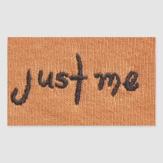 Just Me Logo! Rectangular Sticker