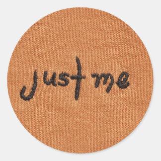 Just Me Logo! Round Sticker