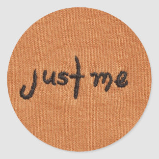 Just Me Logo! Classic Round Sticker