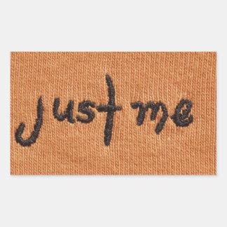 Just Me! Rectangular Sticker