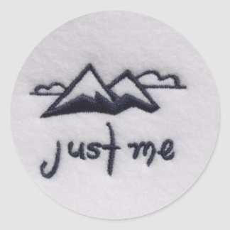 Just Me! Round Sticker