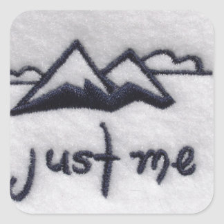 Just Me! Square Stickers