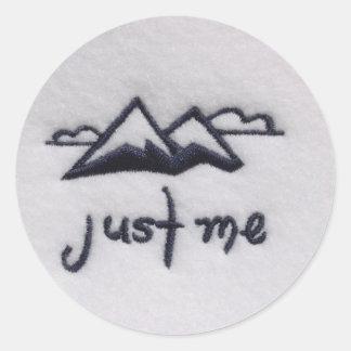 Just Me Round Sticker