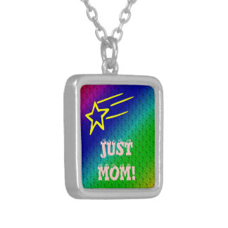 Just Mom Square Pendant Necklace
