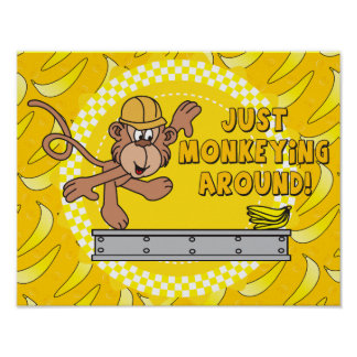 Just Monkey Around Nursery Theme Posters