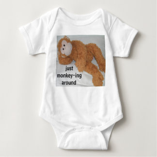 """just monkey-ing around"" baby bodysuit"