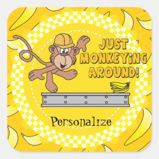 Just Monkeying Around Theme Square Sticker