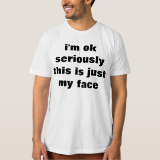 just my face shirt