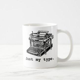 Just my type, Typewriter Basic White Mug