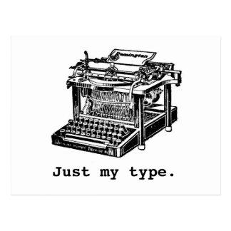 Just my type, Typewriter Postcard