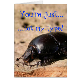 Just Not My Type -  Dung Beetle card