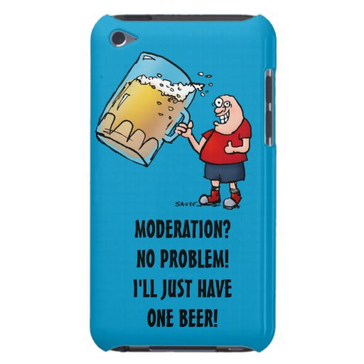 Just One BIG Beer Funny iPod Case Barely There iPod Cover