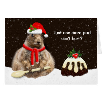 Just One More Pud Card (customise caption/message)