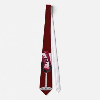 Just One Red Red Wine Tie