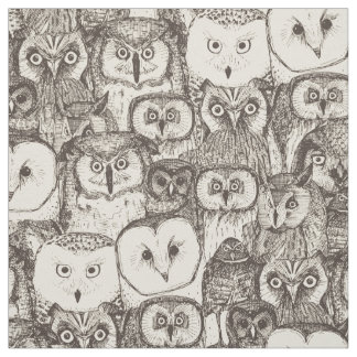 just owls natural fabric