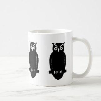 Just Owls - On White or Custom Colour Basic White Mug