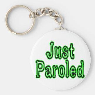 Just Paroled Basic Round Button Key Ring
