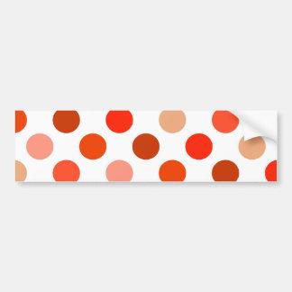 Just Peachy Polka Dots Bumper Sticker