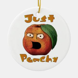 Just Peachy Round Ceramic Decoration