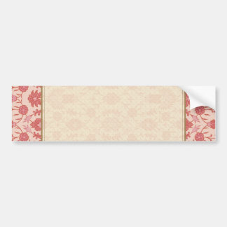 Just Peachy - Vintage Floral Pattern Bumper Sticker