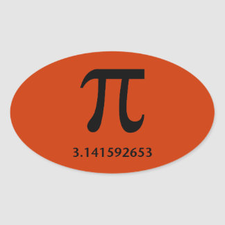Just Pi, Nothing More Oval Sticker