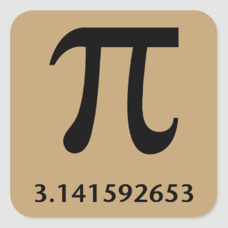 Just Pi, Nothing More Square Sticker