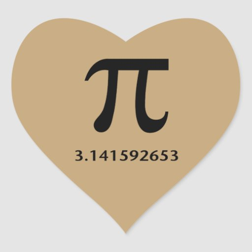 Just Pi, Nothing More Heart Sticker