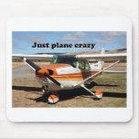 Just plane crazy: Cessna Skyhawk aircraft Mouse Pad
