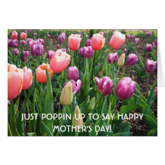 JUST POPPIN UP TO SAY HAPPY MOTHER'S DAY! Blank Greeting Card