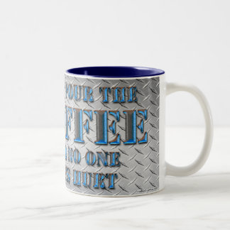 Just Pour the Coffee and No One Gets Hurt (Gun) Two-Tone Coffee Mug