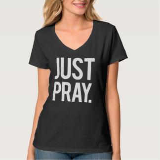 Just Pray Religious Women's Tshirt