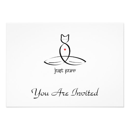 Just Purr - Sanskrit style text. Personalized Invitations