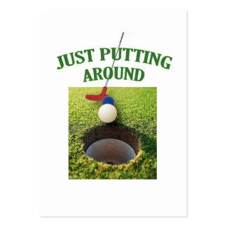 Just Putting Around Golf Business Card Templates