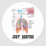 Just Respire Round Sticker