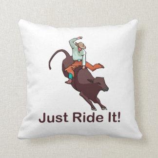 Just Ride It Cowboy and Bull Cushion
